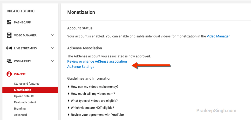 Monetization confirmed for YoutTube Videos with Adsense
