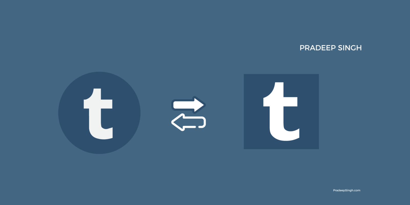 Move Tumblr from one account to another