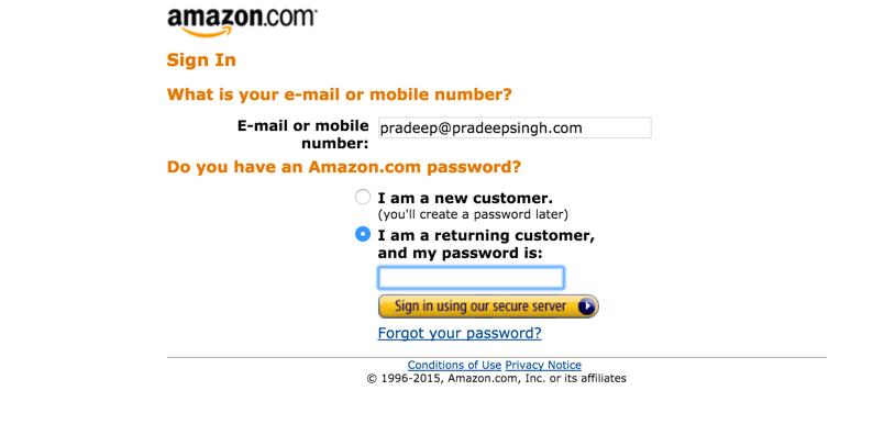 Sign in Amazon Associates Affiliate Program