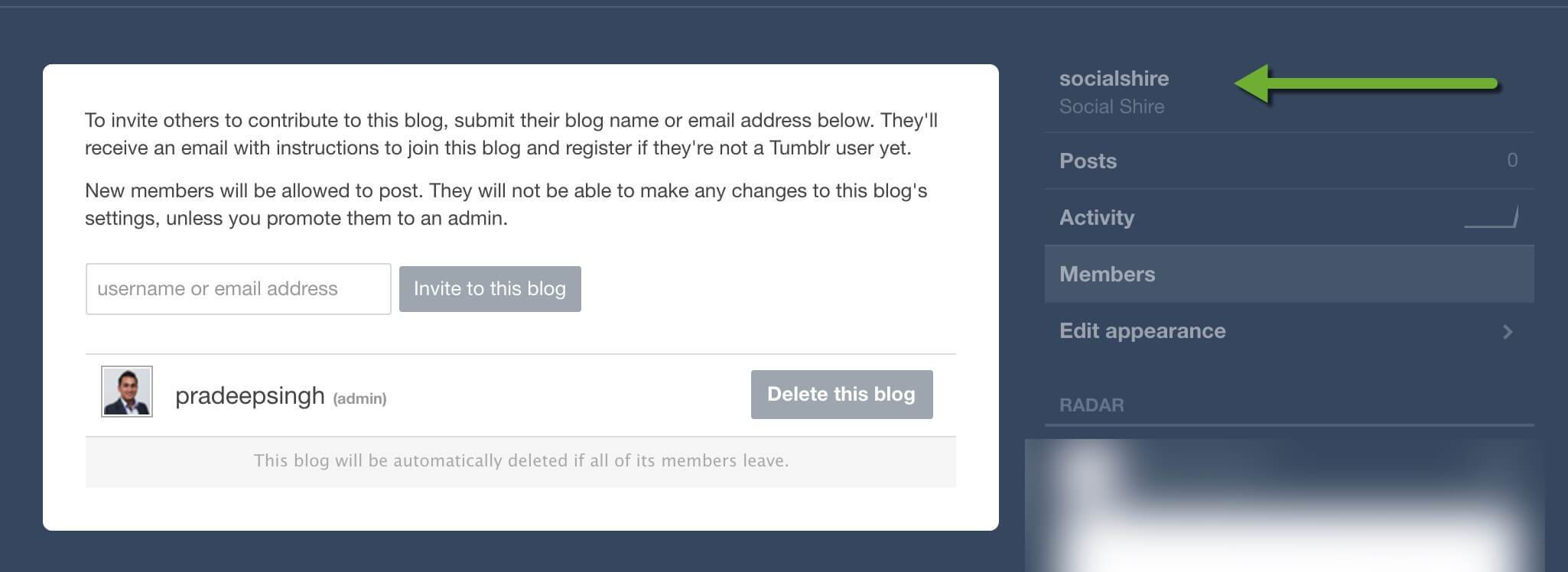 Tumblr Blog moved to New Account