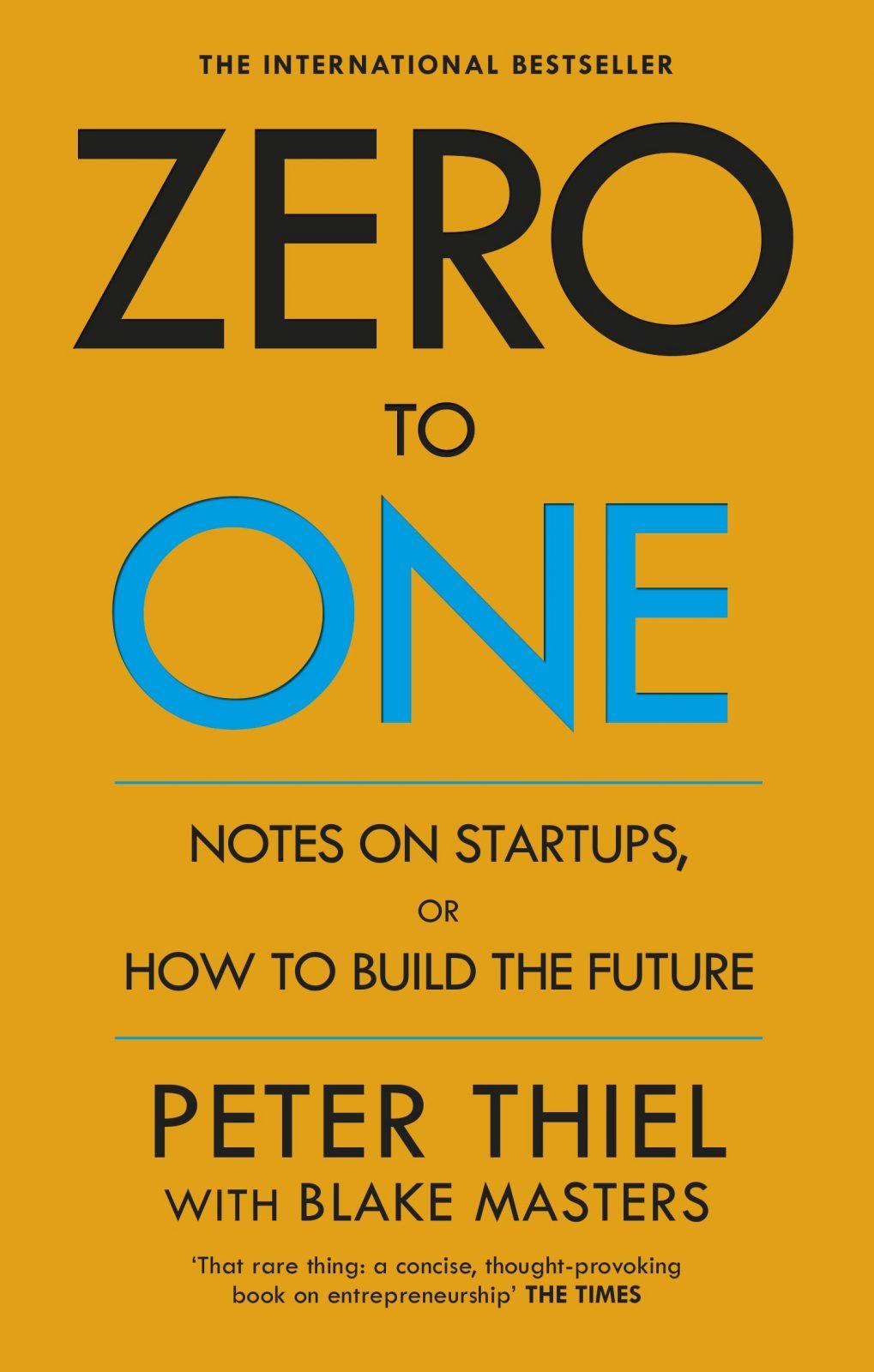 Zero to One Book Cover Inspiring Entrepreneurship Book