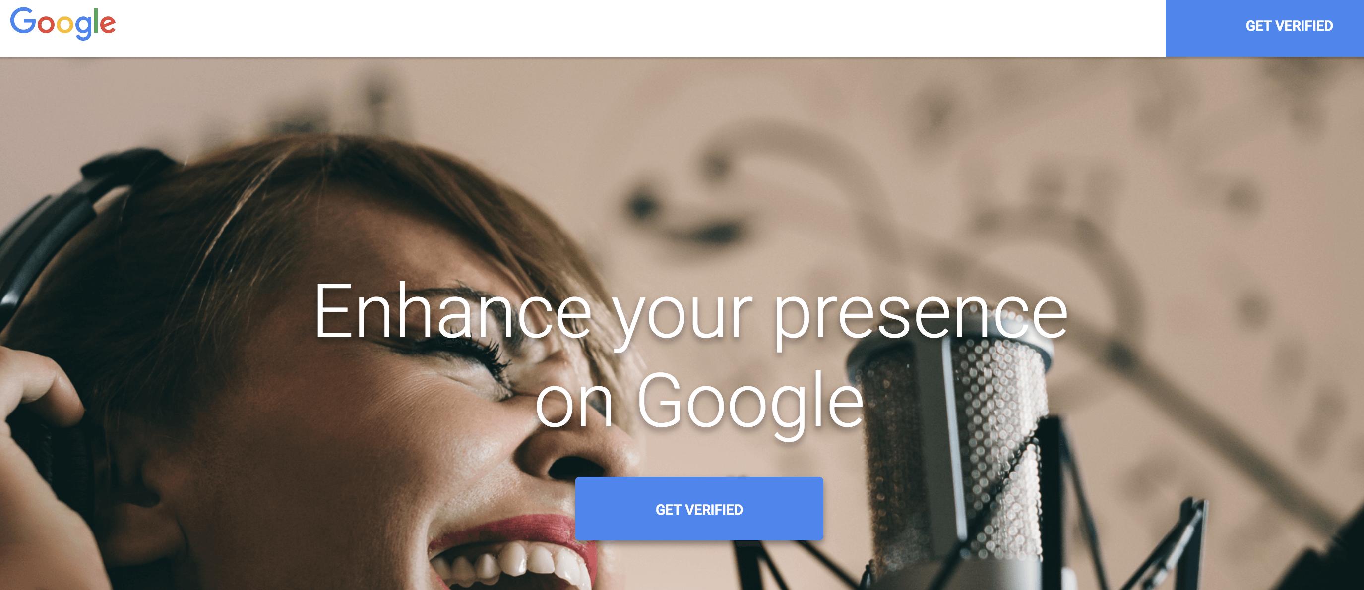 knowledge panel Get Verified Website Google